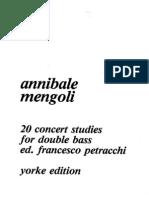 Mengoli - 20 Studi Da Concerto Per Contrabbasso