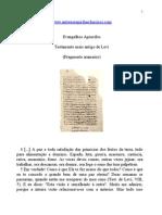 evangelhos apócrifos - testamento mais antigo de levi
