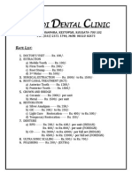 Nandi Dental Rate List