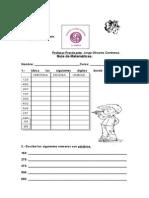 3553032 Guia de La Carta Adicion y Escritura de Numeros Hasta El 600 y Relieve