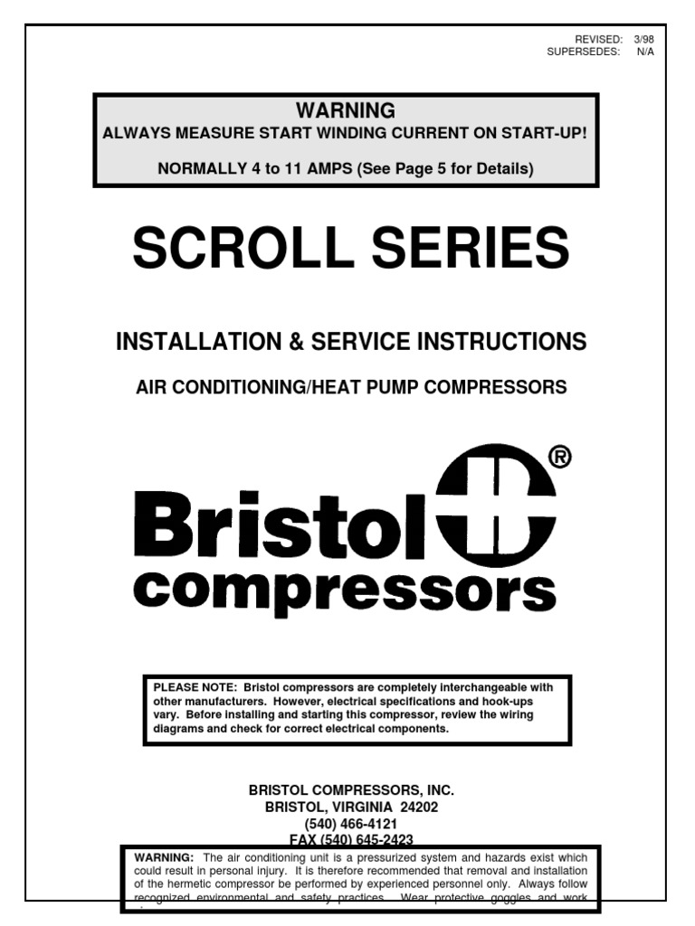 Wiring Diagram For Bristol Compressor Library