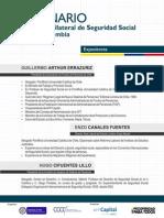 Información Expositores_ Seminario sobre el Convenio de Seguridad Social Chile- Colombia
