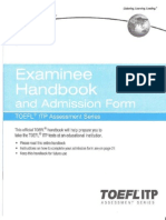 TOEFL ITP Student Manual