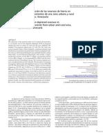 Anemia y depleción de las reservas de hierro en