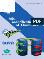 Mis-Identification of Chemicals