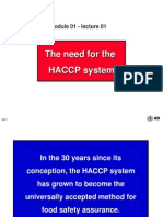 The Need for HACCP (b)