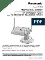 Panasonic TDA 200 pabx manual.PDF