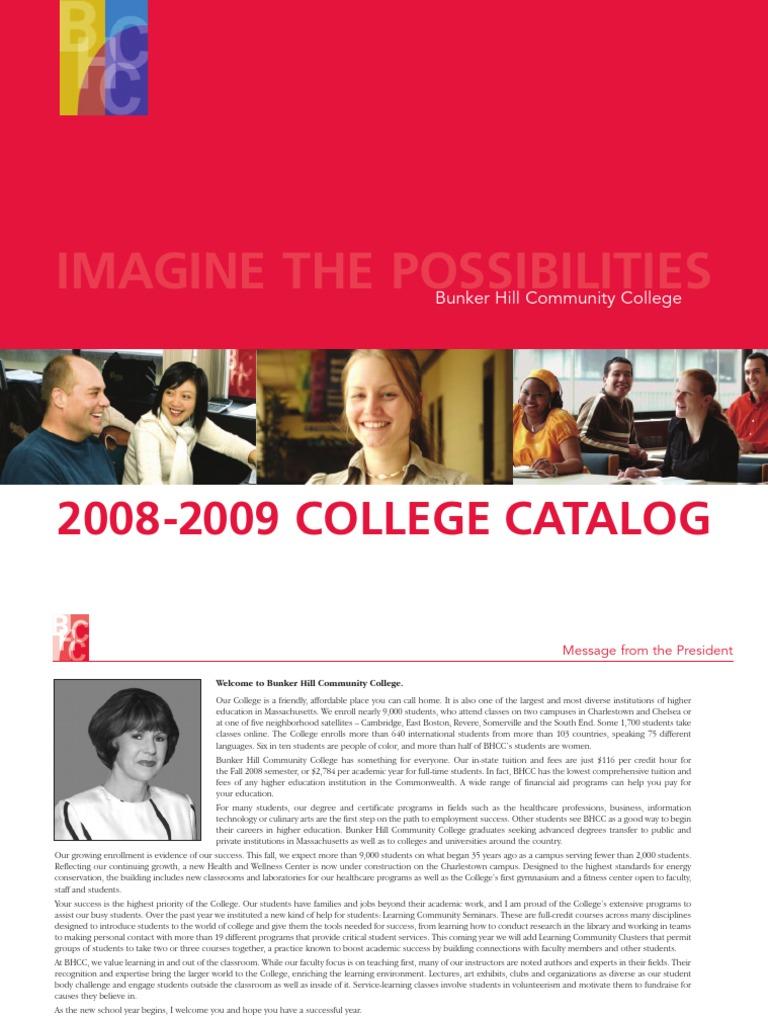 Bhcc college catalog 2008 09 pdf university and college admission general educational development