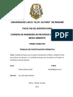 Proyecto de Investigación 01 - Basura en Manta y Ecuador