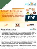 Abbworld - Step Wise Procedure to Update Customer List