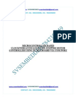 172.Microcontroller Based Clockwise-Anticlockwise Stepper Motor Controller Using Pc Keyboard via Com Port