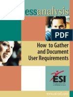 Business Analysis - How to Gather and Document User Requirements (1)