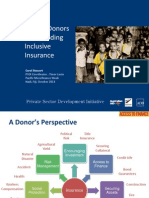 Role of Donors in Expanding Inclusive Insurance