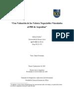 Una Valuación de los Valores Negociables Vinculados al PBI de Argentina