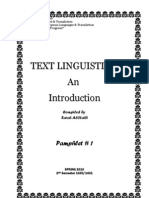 Textlinguistics Booklet