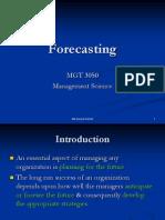 03 MGT 3050 - Forecasting.pptx