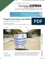 'Panjab University is top Indian institute' - Indian Express.pdf