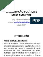 Participacao Politica e Meio Ambiente