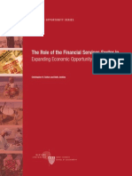 The Role of the Financial Services Sector in Expanding Economic Opportunity