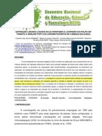 EXTRAÇÃO LÍQUIDO-LÍQUIDO DO β-CAROTENO E LICOPENO DA POLPA DO TOMATE E ANÁLISE POR CCD (CROMATOGRAFIA DE CAMADA DELGADA