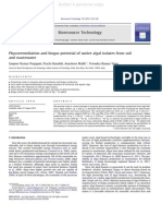 Phycoremediation and biogas potential of native algal isolates from soil