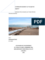 Submarine Pipeline Design at Tanjung Sekong Project