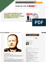 130809 Última entrevista de Juan Velasco Alvarado a César Hildebrandt
