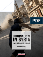 Journalism in Syria, impossible job ?