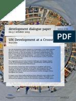 UN Development at a Crossroads    Development Dialogue Paper by Bruce Jenks