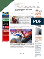 SiteBarra » Vila Pavão_ homem é preso após matar esposa com 16 facadas