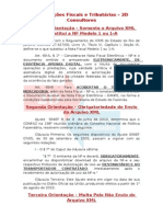 Orientações Fiscais e Tributárias XML