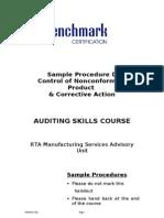 Sample Procedure D - Control of Nonconforming Product & Corrective Action Dec05 (Final)