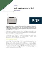 Como Compartir Una Impresora en Red