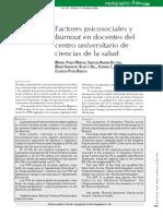 Factores Psicosociales y Burnot en Docentes Del Centro Universitario de Ciencias de La Salud