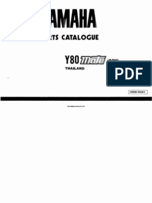 Yamaha-Y80-PartsCatalogue.pdf | Carburetor | on