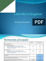 Calendarul bugetar