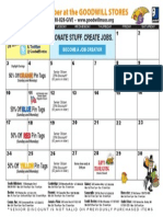 Goodwill's November Retail Calendar