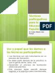 Técnicas participativas para la Educación Popular