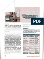 IEEE Transformer Life by Taking Corrective Measures Based on Oil Analysis