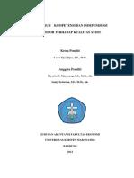 Pengaruh Kompetensi Dan Independensi Auditor Terhadap Kualitas Audit (1)
