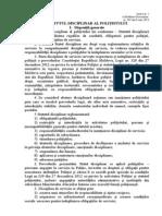 HG 502 statutul disciplinar al poliţistului