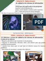 2.2. Defectos y errores de calidad en los sistemas de información, clases.