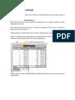 Función Excel CONTAR
