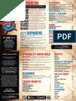 LSA Burger Co. menu