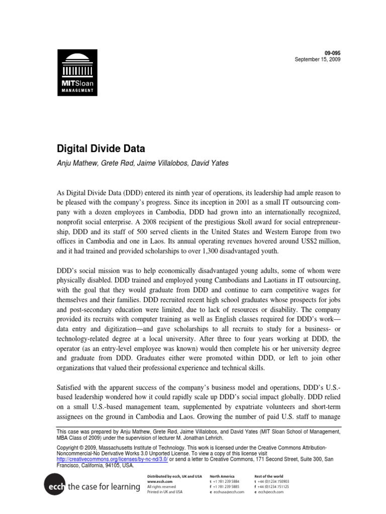 digital divide case study pdf franchising