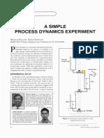 A Simple Process Dynamics Experiment