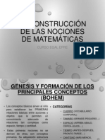 La construcción de las nociones de matemáticas