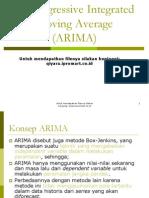 Pengolahan data metode arima