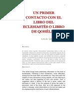 Ladeira L. - Un Primer Contacto Con El Libro de ECLESIASTES
