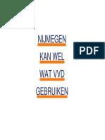 Definitieve kandidatenlijst VVD Nijmegen Gemeenteraadsverkiezingen 2014